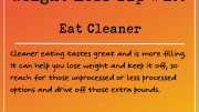 Weight Loss Tip 195 - Eat cleaner