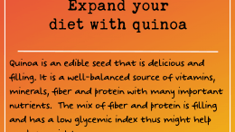 Weight Loss Tip 209: Expand your diet with quinoa