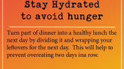 Weight loss tip: Stay Hydrated to avoid hunger