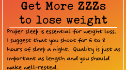 Weight Loss Tip 237- Get some ZZZs