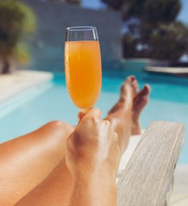 Poolside orange juice