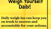 Weight Loss Tip - Daily Weigh-ins