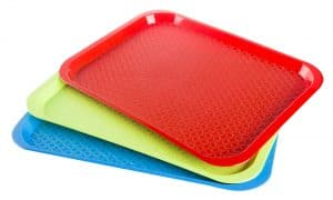 Plastic empty tray